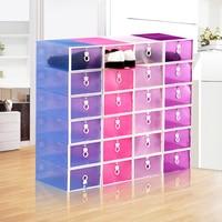 Transparent Wrapped Plastic Shoe Storage Box Drawer Storage Organizer Thickened Drawer Shoe Boxes