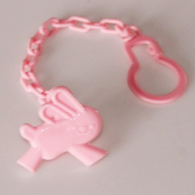 1 шт., Детские зажимы для соски, забавные соски-прорезыватели, аксессуары для сосок, держатель для соски с цепочкой, устойчивый к падению ремень - Цвет: Pink Rabbit