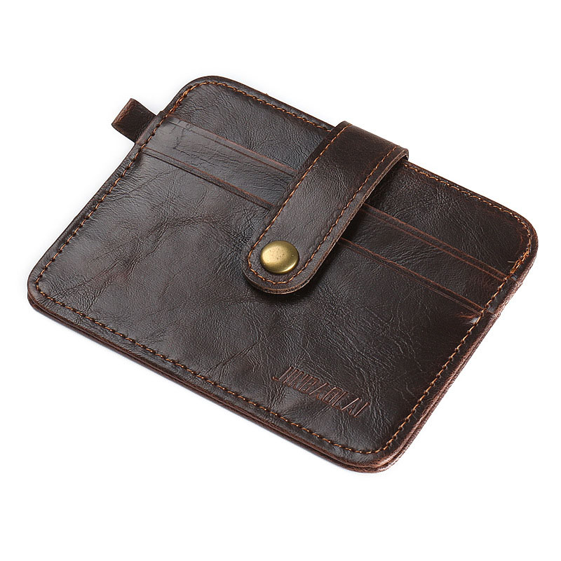 2017 Fashion Men Business Mini Hasp Small Purse PU Leather Wallet Purses Clutch Cards Holder Bags LT88