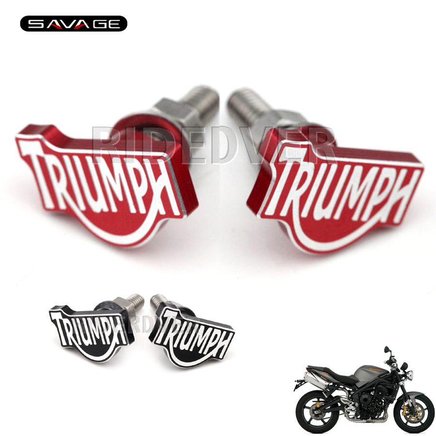 For Triumph Daytona Street Triple 675 Tiger 800 1050 Motorcycle Rear Fender Eliminator License Plate Bolt Screw 6mm Red/Black for triumph tiger 800 tiger 1050 tiger explorer 1200 easy pull clutch cable system
