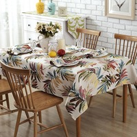 Pastoral Style Colorful Leaves Tablecloth Wedding Party Table Decoration Multifunctional Rectangle Table Cover Tablecloth Home