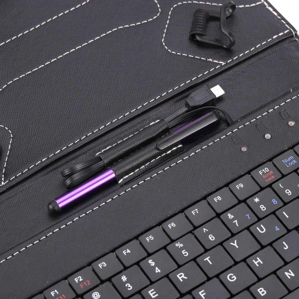 """Новый складной чехол-книжка Магнитный PU кожаный чехол подставка держатель с клавиатурой стилус ручка для Android 7 """"8"""" дюймов планшет"""