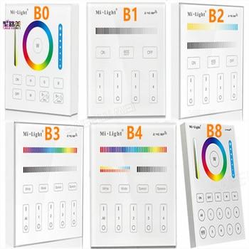Milight B0 B1 B2 B3 B4 B8 4-Zone 8 Zone 2.4GHz Wireless WIFI Touch Panel Dimmer/RGBW/RGB + CCT LED Smart Remote Controller