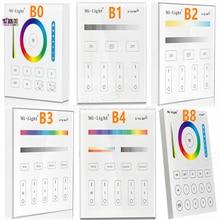 Milight B0 B1 B2 B3 B4 B8 4 Zone 8 Zone 2.4GHz لوحة اللمس اللاسلكية واي فاي باهتة/RGBW/RGB + CCT LED تحكم عن بعد الذكية