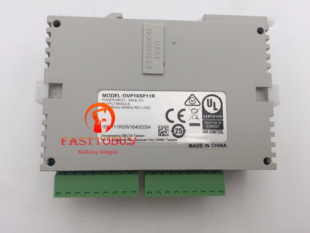 DVP16SP11R Delta PLC SS series Digital extension module 16 point 8DI 8DO (Relay) DC power New new original delta dvp06sn11r dc24v plc 6do relay module