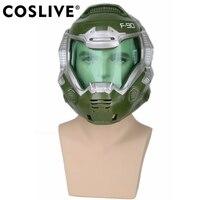 Coslive Хэллоуин Косплэй Doom Doomguy версия игры шлем Косплэй Маска Костюм аксессуары для Хэллоуина вечерние полная головы маски