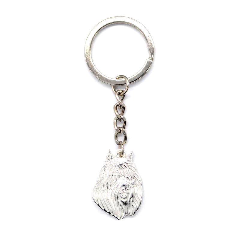 2018 Lovers Metal Dog Shaped Key Chains Womens Bouvier Des Flandres Dog Key Chains
