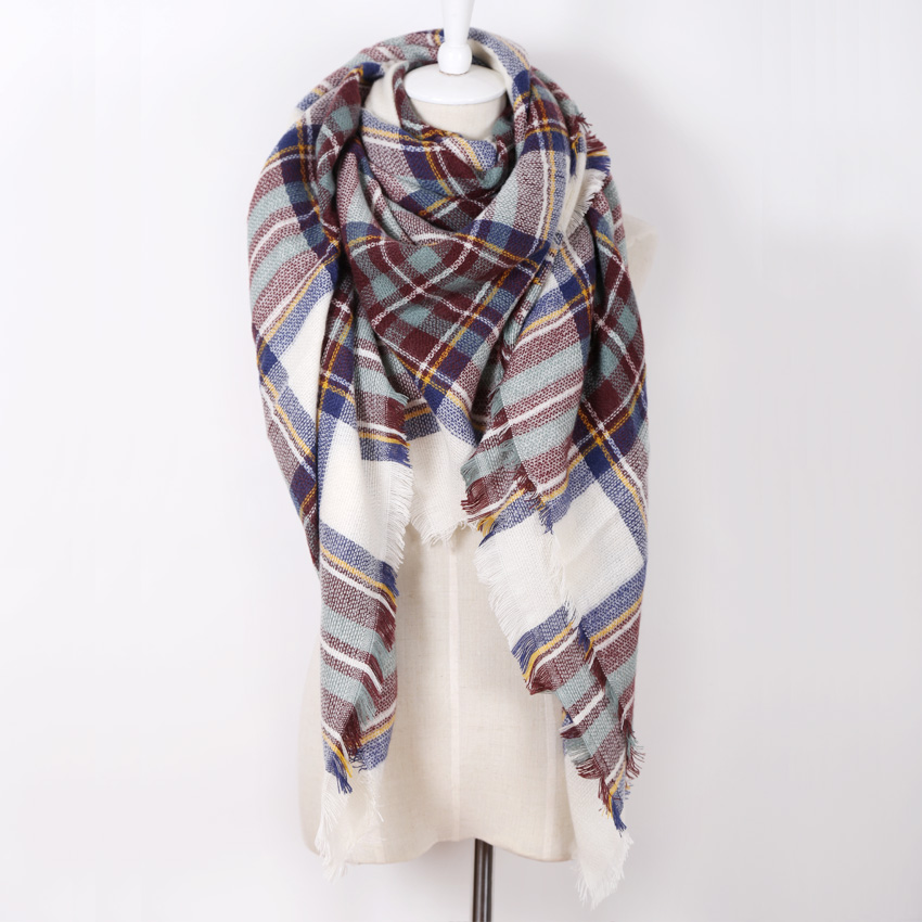 5884c2da0 Fashion Design Women's Scarf Top Cashmere warm in Winter Brand Square warp  Blankets Soft Shawl Size 140cmx140cm wholesale