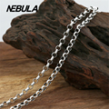 Vintage Thai Silver 4mm Link Chain Necklace New Fashion 100% Authentic 925 Sterling Silver Necklace Women Men jewelry
