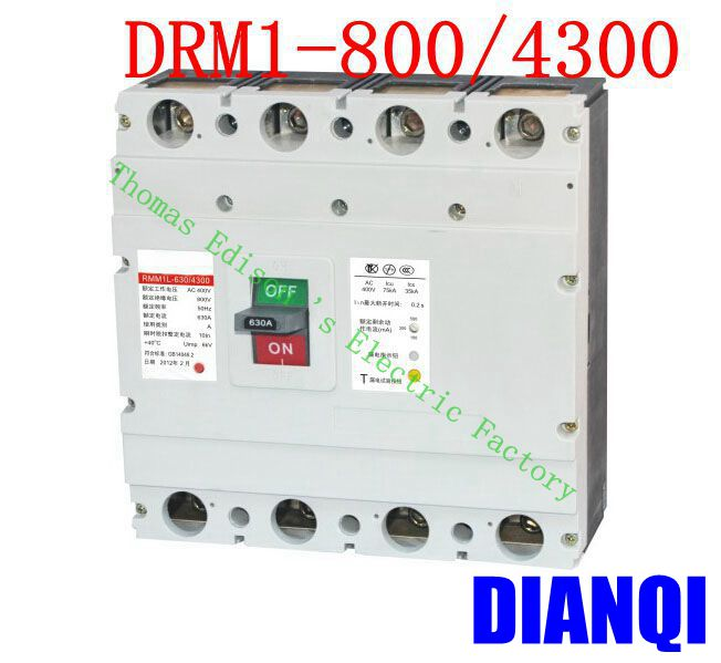 цена на CM1-800/4300 MCCB 630A 800A molded case circuit breaker CM1-800 Moulded Case Circuit Breaker