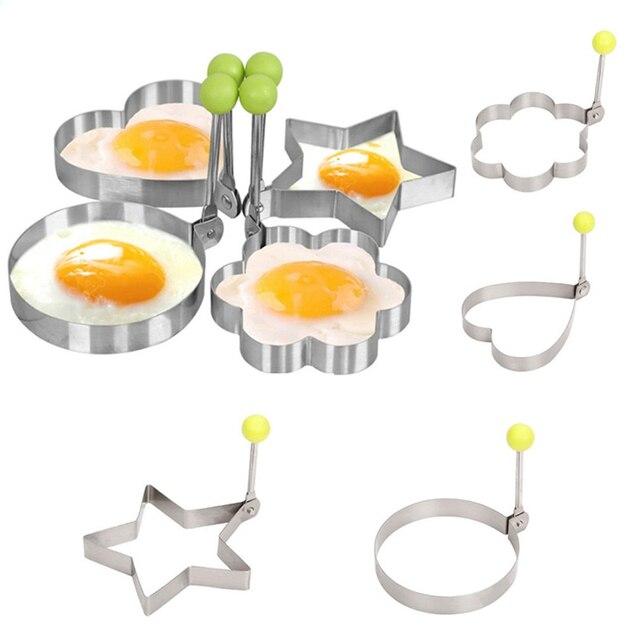 1 pièces en acier inoxydable moule à oeufs frits crêpe accessoires de Cuisine Gadgets de Cuisine fruits et légumes forme décoration Cuisine. Q 1