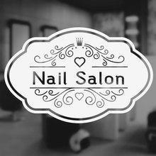 Nail Salon Window Decal Vinyl Wall Sticker Art Decoration Beauty Hair Sign Custom Shop Name Removable Mural 3W10