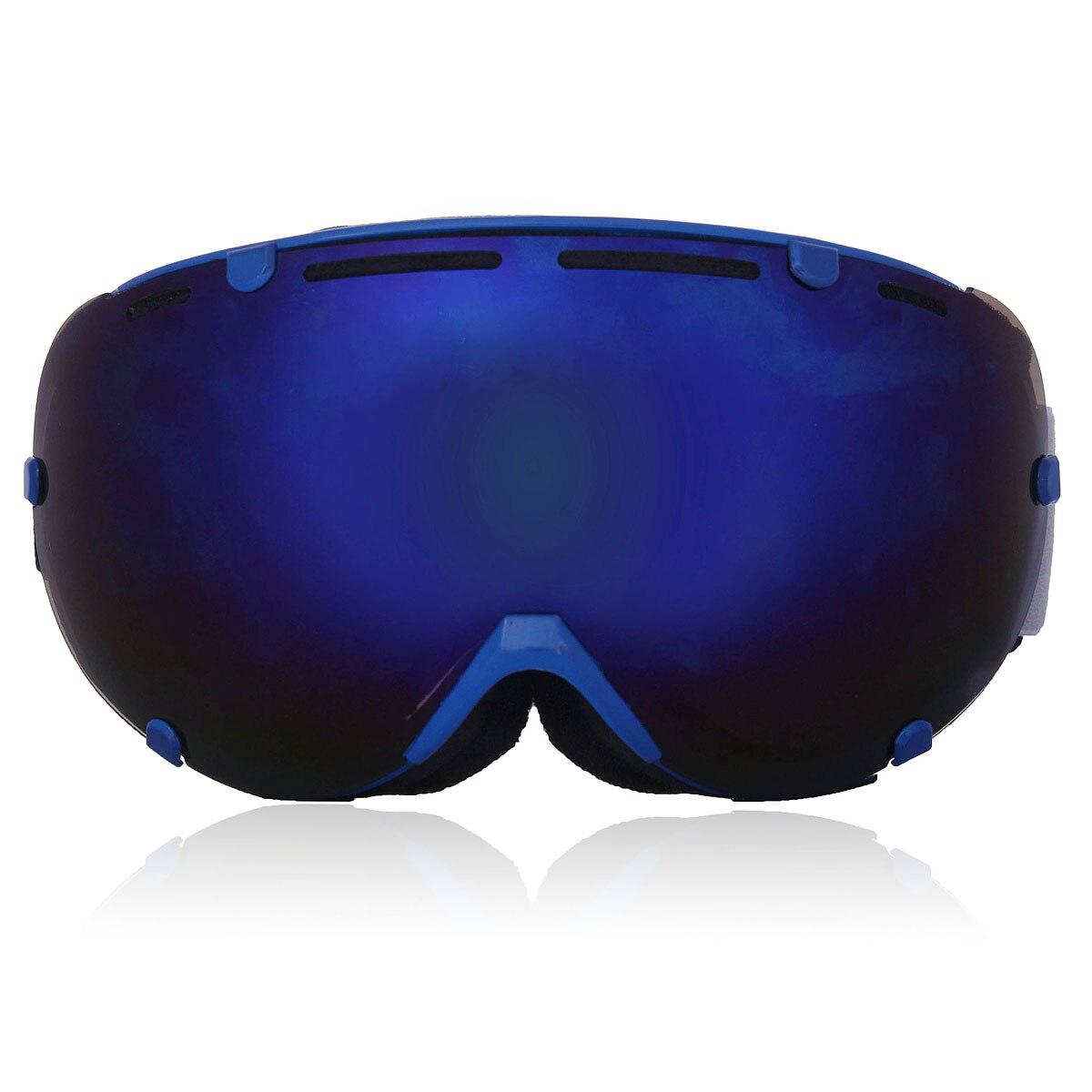 4 Colores Profesional Adulto Unisex <font><b>Snowboard</b></font> Gafas de Esquí UV Antivaho Gafas de Esquí de Doble Lente De Vidrio