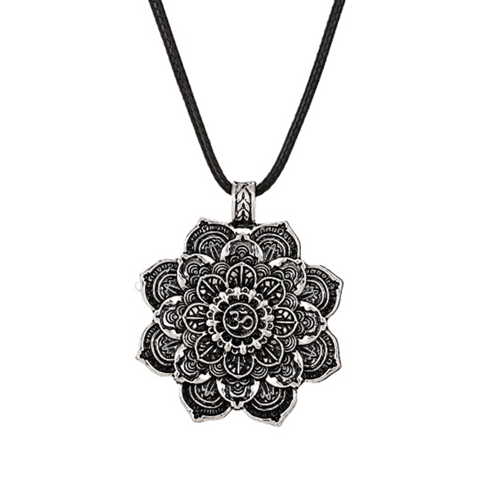 Spiritual Necklace Amulet Religious Jewelry Mandala Pendant Geometry Tibet Retro 1pcs