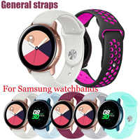 1pcs Silicone Watch Band Fossil Q Strap for Samsung Gear S3 Classic Frontier Galaxy Watch Breathable Amazfit GTR 47mm Bracelet