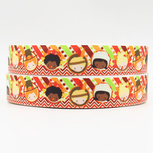 wm 10 yards lot 7/8inch 22mm 160528018 Thanksgiving Day printed grosgrain ribbon free shipping()