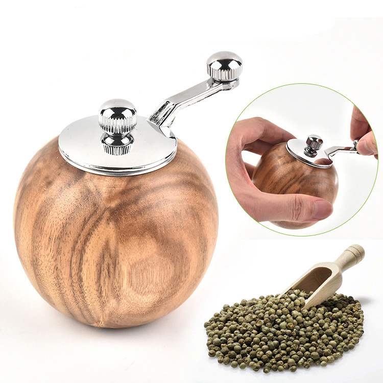 Jaswehome acacia salt and pepper grinder wooden pepper grinder salt pepper grinder mill kitchen tools|Mills| |  -
