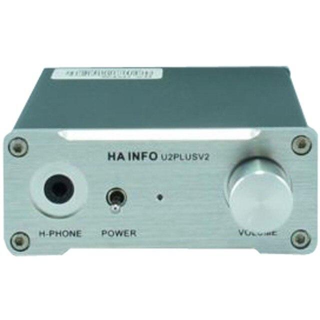 ХА-информация U2PlusV2 AD1852 USB Звуковая Карта ЦАП Усилитель Для Наушников