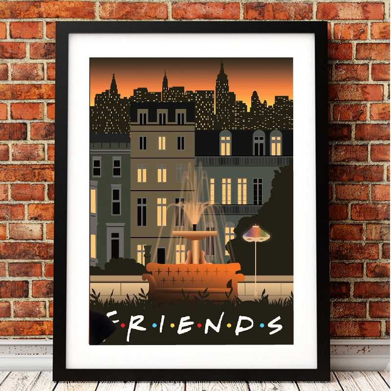 Friends Tv Show Classic Posters and Prints Wall Art Decorative Picture Canvas Painting for Living Room Home Wall Decor