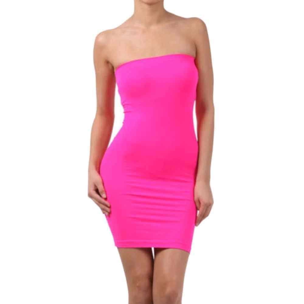 קיץ ללא שרוולים ללא משענת סקסי Slim נשים של שמלת אלסטי הדוק גוף-קון בסיסי שמלת טנקי אפוד גבירותיי שמלת רצועה מסיבת שמלה