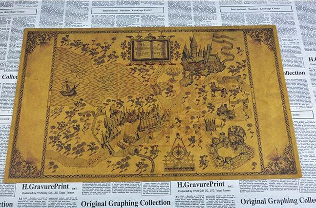 Free shipping marauders map Poster Wizarding World Of Harry Potter ...