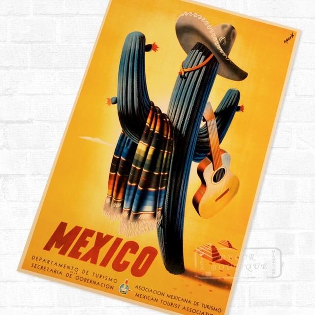 Mexico Desert Feeling Tour Landscape Travel Poster Vintage Retro ...