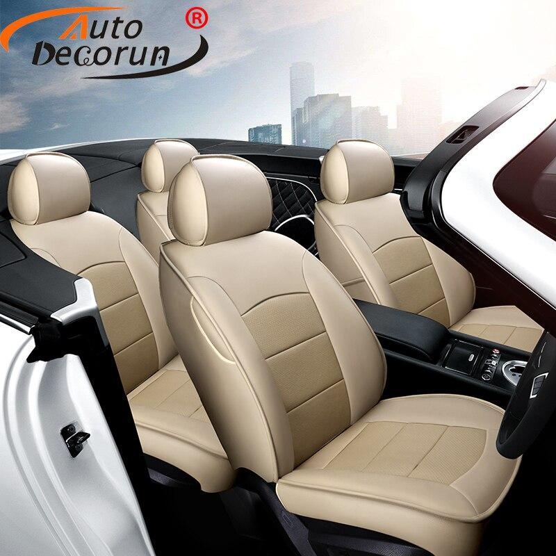 AutoDecorun 12 шт./компл. перфорированной натуральной Чехлы для Volvo C30 аксессуары сиденья автомобиля кожаные чехлы на автомобильные сиденья 2007 2013