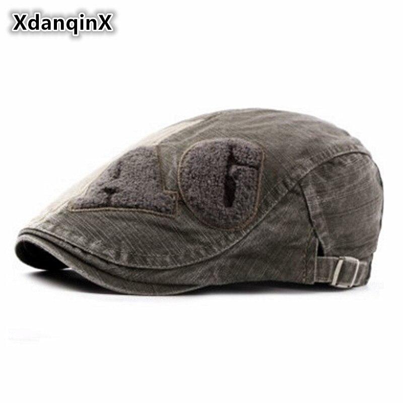 2019 Mode Xdanqinx Frühling Sommer Herren 100% Baumwolle Retro Berets Einstellbarer Größe Zunge Kappe Einfache Vintage Frauen Hüte Männlichen Knochen Vati Hut