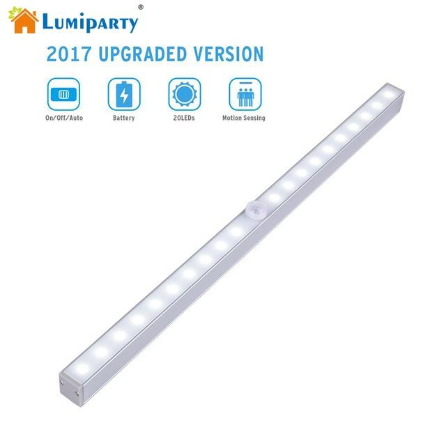 LumiParty 20 LEDs Portable Wireless Sensor Closet Under Cabinet Night Light Battery Powered for Stair Aisle Porch Walkway редакция газеты коммерсантъ понедельник пятница коммерсантъ понедельник пятница 206 2016