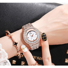 2018 Fashion Luxury Diamond Bracelet Quartz Watch Waterproof Rhinestone Dress Office Lady Stainless Steel Relogio Feminino