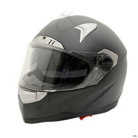 Matte Black Dual Visor Full Face Street Bike Motorcycle Helmet DOT M L XL XXL