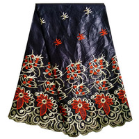Black Color African Lace Fabric African Bazin Riche Fabric High Quality Bazin Riche Getzner For Women
