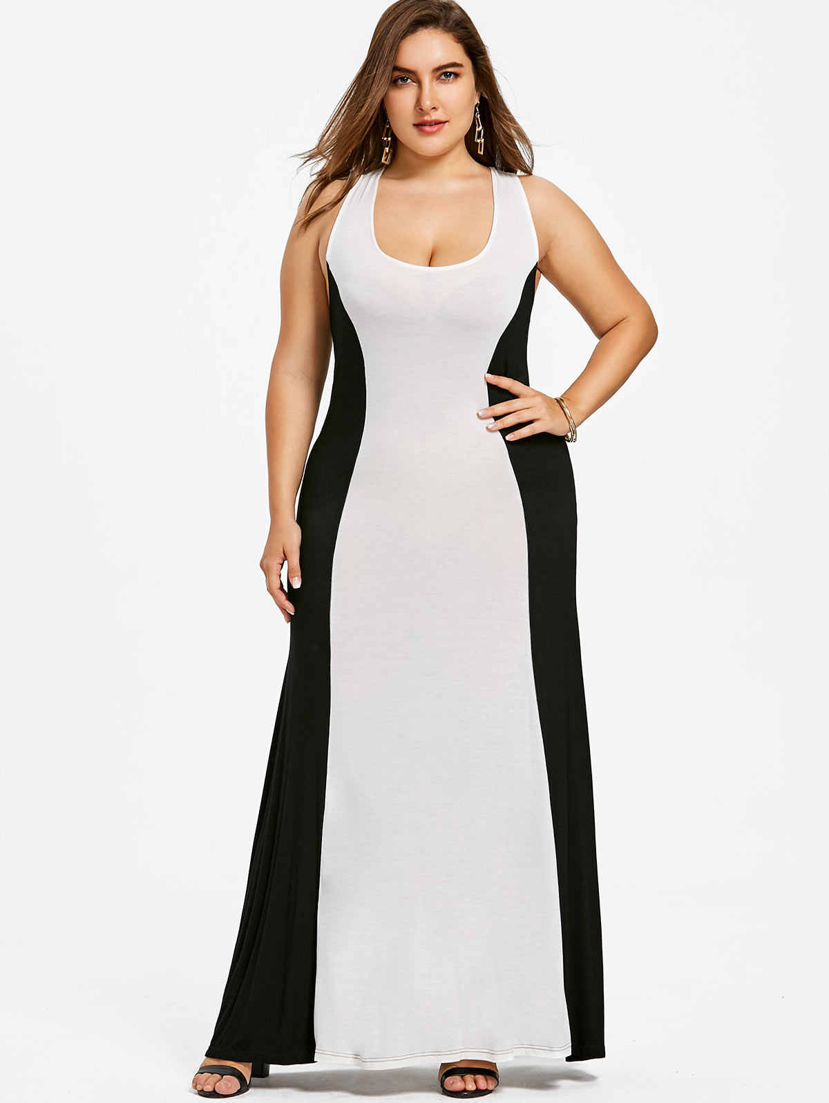 Detail Feedback Questions about Wipalo Plus Size 5XL Two Tone Maxi ... b499c9989d24