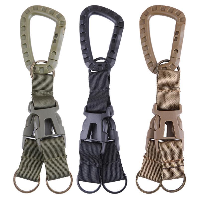 1Pcs Carabiner Nylon Tactical Backpack Belt Buckle Webbing Hook Buckle Hanging System Molle Waist Belt Buckle Outdoor Tools New