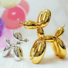 Nordic home decoration New 30cm high American pop art dog statue resin craft balloon girlfriend favorite pet Christmas gift