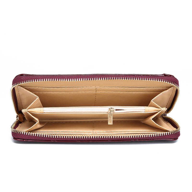 Mewah Merek Buaya Tas Wanita Hitam Merah Patent Kulit Wanita Tas Set Kapasitas Besar Tas Bahu Wanita Tas Jinjing + dompet