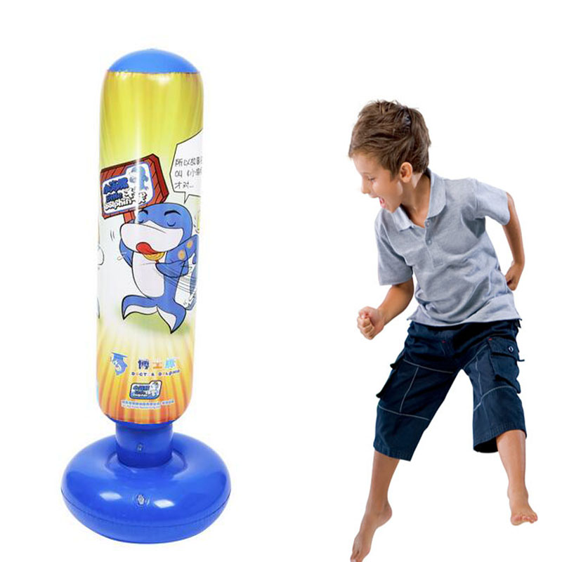 Pump Punching Bag Stand 120cm Inflatable Carton Ball Sd Boxing Ring Training Toy Kid Tumbler Roly Poly Playground In From Sports