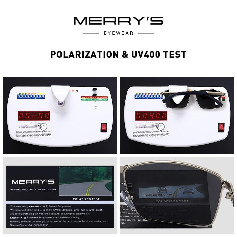 MERRYS DESIGN Men Classic Rectangle Sunglasses HD Polarized Sun glasses For Driving TR90 Legs UV400 Protection S8380