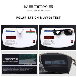 Image 5 - MERRYS デザイン男性クラシック長方形サングラス HD 用の偏光サングラス駆動 TR90 脚 UV400 保護 S8380