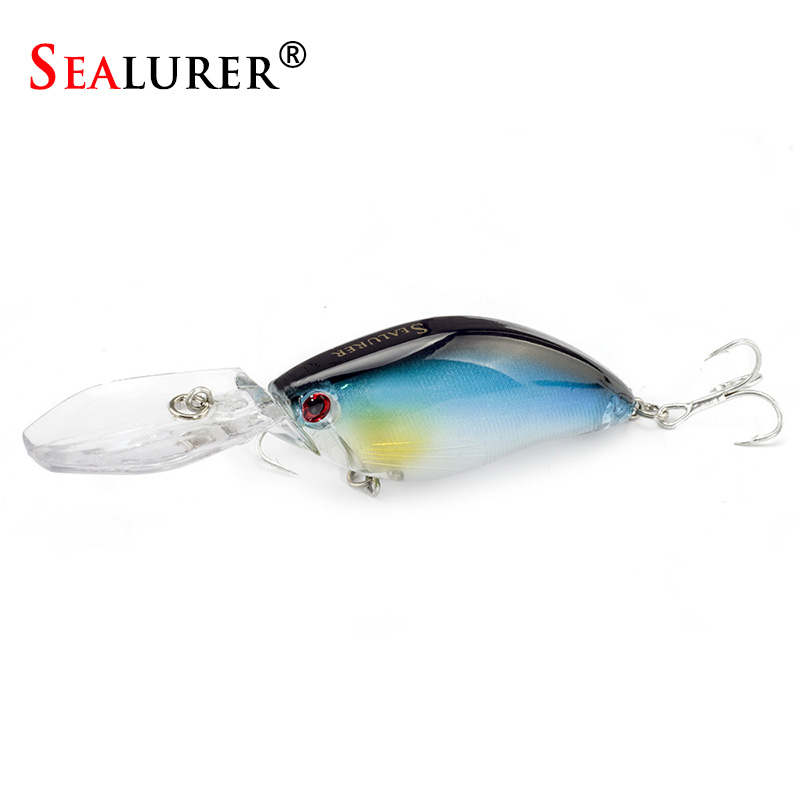 SEALURER Floating 1PCS Fishing Lures Deep Swimming 110mm Long 17.9G Crankbait Hard Baits Wobbler Slow Swimbait Fishing Tackle