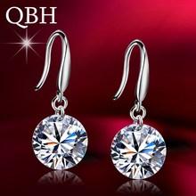 New Fashion Temperament Ear Hook Tiny Zircon Crystal Stud Earrings For Women Wedding Jewelry Boucle Mujer
