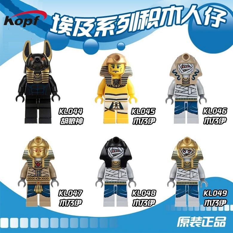Single Sale Pharoah's Mummy Warrior Golden Face Egyptian Super Heroes DIY Assemble Building Blocks Toys for children Gift KL9006 телефон lenovo a806 golden warrior a8 артикул 131078341