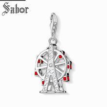 Купить с кэшбэком thomas Ferris Wheel Charm, gifts Jewelry For Women,2019 City Gift 925 Silver Fit Bracelet jewellery charms