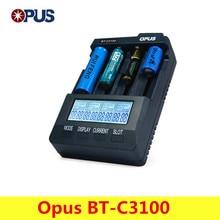 Original Opus BT-C3100 V2.2 Intelligente Digitale Intelligente 4 LCD Slots Universal-ladegerät Für Akku EU/Us-stecker