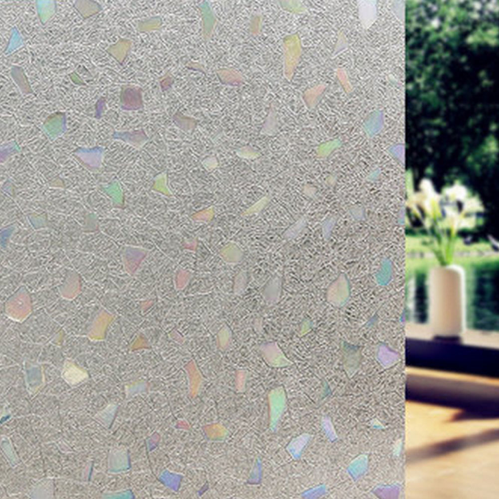 3d no glue static cling decorative frosted privacy window films for gl heat control anti uv