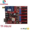 LongGreat TF-M6UW WIFI беспроводной и USB драйвер светодиодный дисплей с картой управления Одноцветный P10 Светодиодный модуль контроллера