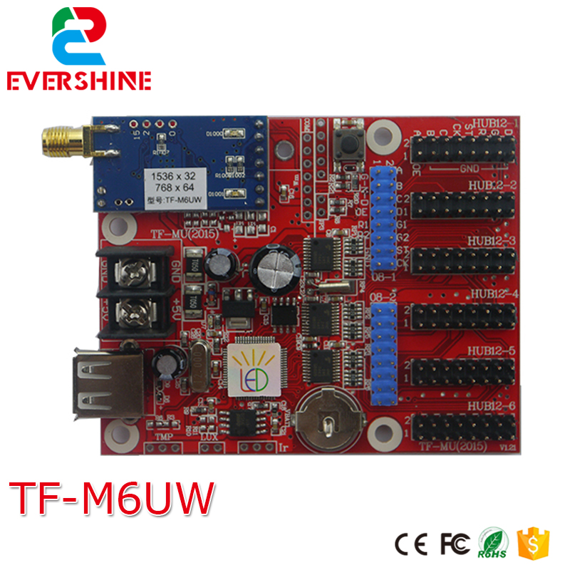 LongGreat TF-M6UW WIFI Wireless & USB Driver LED Display Control Card  Single Color P10 LED Module Controller