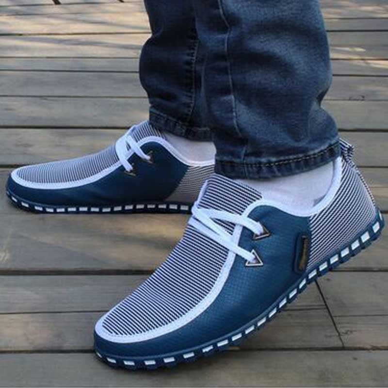 Summer Loafers Men Casual Shoes Fashion Slip On Sneakers Men Flats Driving Shoes PLUS SIZE 38-47 Trainers Zapatos Hombre Casual 5