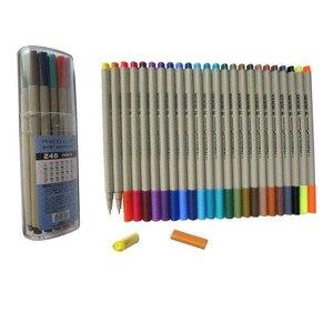 Image 5 - Цветная подводка для набросков Finecolour EF300, 0,3 мм, 48 цветов, хорошее качество, ручная роспись, маркеры, ручка с пластиковым чехол