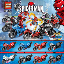 Legoing Spiderman Super Heroes Thor Iron Man Loki Deadpool Venom Spider Gwen man batman Avengers Building Blocks Toys Figure